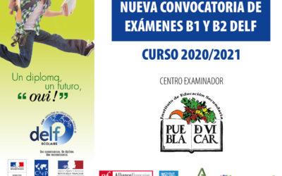Exámenes DELF curso 2020/2021